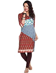 Zovi Women's Cotton Multi Printed Kurta With 3/4th Sleeves (10237927801)