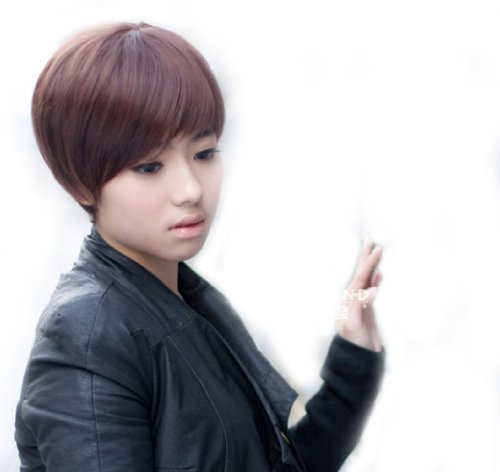 Sexy Women's Pony Short Straight Wig (Model: Jf010295) (Dark Brown) from Cool2day