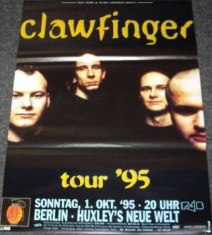 """Clawfinger-Paracolpi 1995-50 x 70 Cm, soggetto: Poster, Poster """""""