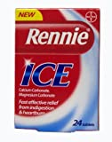 Rennie Ice Heartburn & Indigestion Relief Tablets Mint Flavour 24