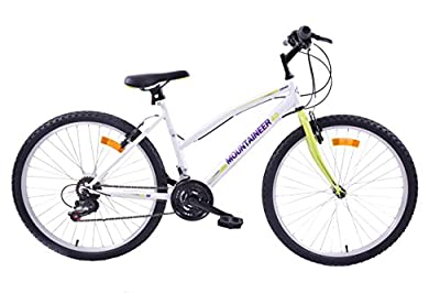 "Cheapest Arden Mountaineer 26"" Ladies 18 Speed Mountain Bike White / Green 18"" Frame from ARDEN"