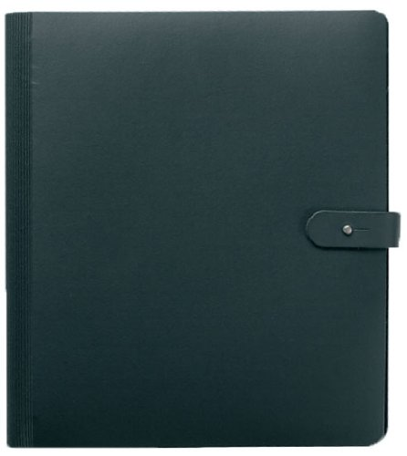Pampa Spiral Book Portfolio 30cm x 42cm Black with 10 Gloss Sleeves