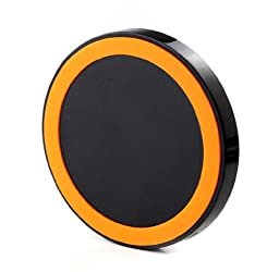 Sannyshop The Qi Wireless Power Charger for iPhone Samsung Galaxy S3 S4 Note2 Nexus (Black Orange)