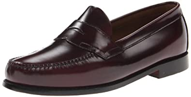 Bass Men's Logan Flat Panel Loafer,Burgundy,6.5 D