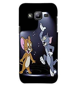 ColourCraft Funny Cat and Rat Design Back Case Cover for SAMSUNG GALAXY J2 J200G