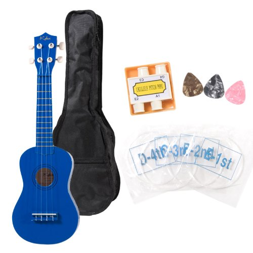 Cecilio Kalos Blue Ukulele with Gig Bag and Accessories