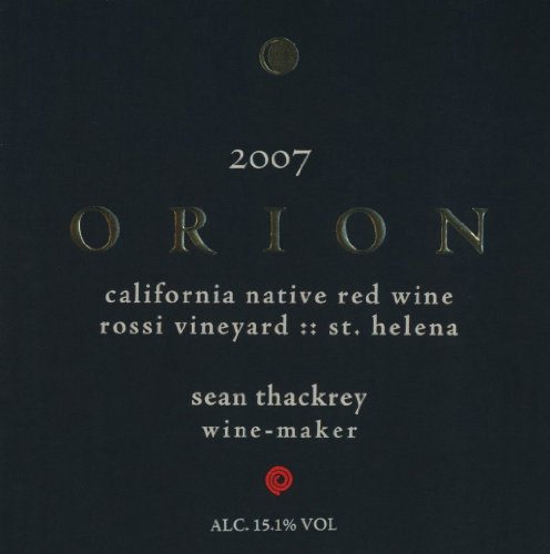 2007 Thackrey Orion Red 750 Ml