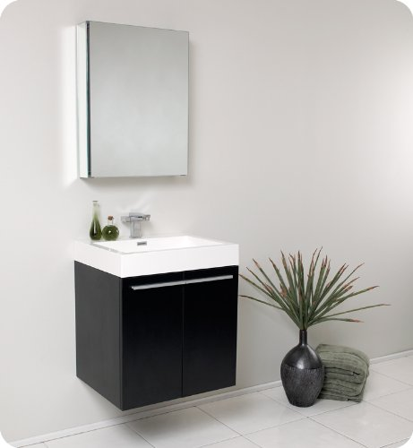 Fresca Alto Walnut Modern Bathroom Vanity w/ Medicine Cabinet
