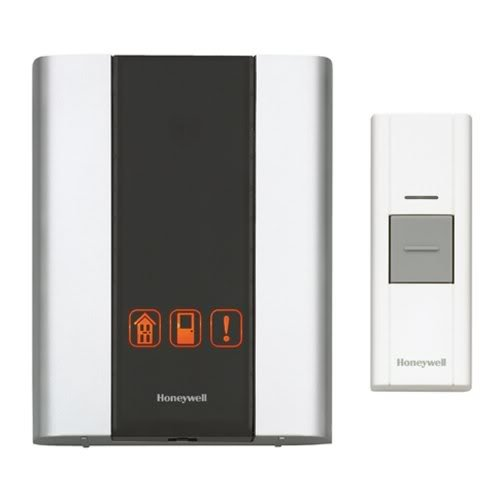 Honeywell RCWL300A1006 Premium Portable Wireless Door Chime and Push Button