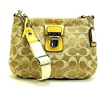Hot Sale Coach Poppy Signature Swingpack Khaki Sunflower