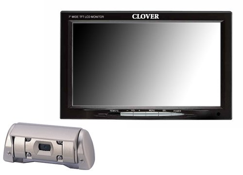 Clover Electronics TFT7001 7-Inch TFT LCD Rear View System with Night Vision Color Camera - Large (Black)