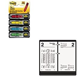 KITAAGS17050MMM684SH - Value Kit - At-a-Glance Financial Desk Calendar Refill (AAGS17050) and Post-it Arrow Message 1/2amp;quot; Flags (MMM684SH)