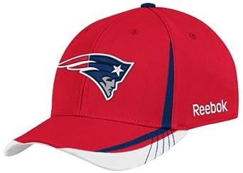 NFL New England Patriots Sideline Flex-Fit Draft Hat, Red, Small/Medium