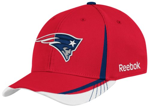 NFL New England Patriots Sideline Flex-Fit Draft Hat, Red, Small/Medium at Amazon.com