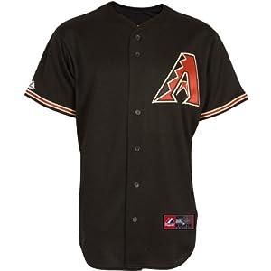 Majestic Athletic Arizona Diamondbacks Blank Replica Alternate Black Jersey by Majestic Athletic