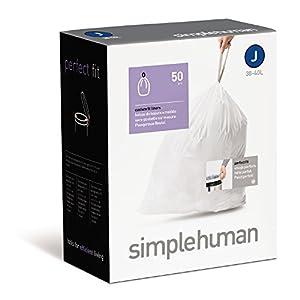 simplehuman - Code J, Custom Fit Bin Liners, 20 Pack - 38-40 Litre