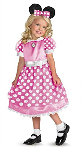 Girls Clubhouse Minnie Pink Kids Child Fancy Dress Party Halloween Costume