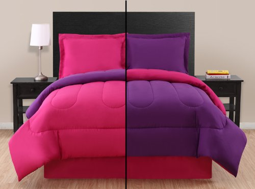 Best Price Twin Pink/ Purple Reversible Comforter Set