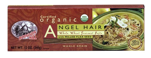 Hodgson Mill, Whole Wheat Whole Grain Angel Hair Pasta, 12-Ounce (Pack of 12)