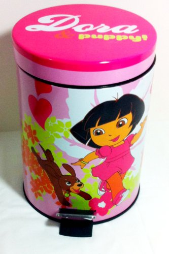 Franco Apparel-Dora The Explorer I Love My Pup Wastebasket