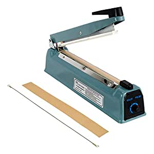 "Generic 12"" Hand Impulse Sealer Heat Seal Machine Poly Sealing Free Element Grip"