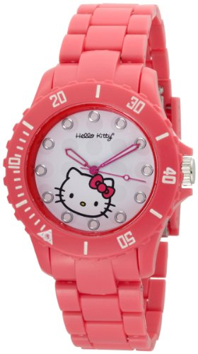 Hello Kitty Women's H3WL1001PK White Dial Watch