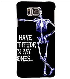 PrintDhaba Quote D-4902 Back Case Cover for SAMSUNG GALAXY ALPHA (Multi-Coloured)
