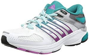 adidas Performance Questar Stability W G97625, Damen Laufschuhe, Weiß (Running White Ftw / Metallic Silver / Blast Emerald F13), EU 39 1/3 (UK 6)