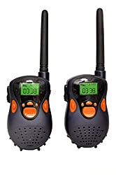 Sunshine Gizmo Walkie Talkie Set for Kids, 120 Ft Range, Black