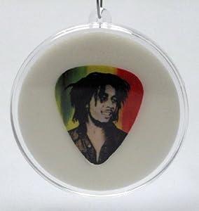 Bob Marley Rasta Guitar Pick Christmas Tree Ornament #1