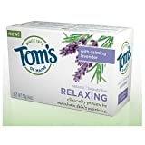 Tom's of Maine Natural Beauty Bar - Relaxing Bath Soaps 4 oz. (Pack of 6)