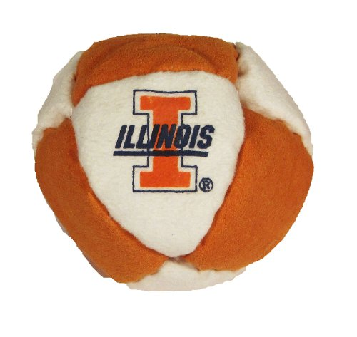 Hacky Sack - College Logo 8 Panelled Illinois Design
