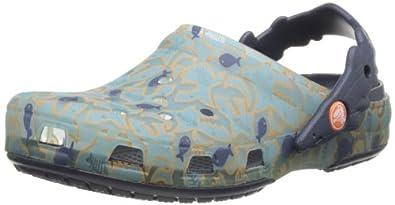 Crocs Crocs Chameleons Shark Uv Ps, Sabots mixte enfant - Vert (Light Blue/Navy),   EU 19-21 (C4/5)
