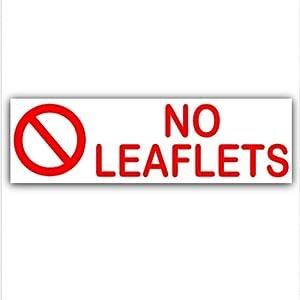 No leaflets letterbox warning house sticker self for Door 2 door leaflets