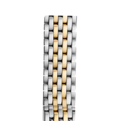 MICHELE 20 Mm Deco Xl 7-Link Two-Tone Gold Steel Bracelet Strap