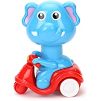 Smiles Creation Press   Go Scooter Riding Elephant Toy For Kids available at Amazon for Rs.199