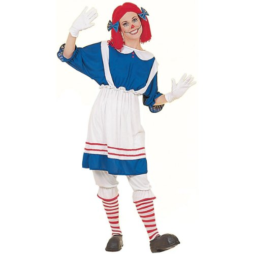 Women's Rag Doll Halloween Costume (Size: Standard 12-14)