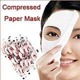 Leegoal 100pcs Skin Care DIY Face Facial fiber Compressed Dry Mask Paper Beauty