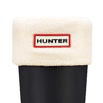 Hunter Kids Fleece Welly Socks Cream XXXS