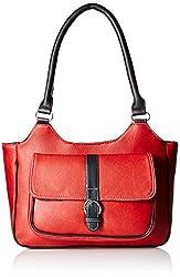 Fantosy Women's Handbag (Red And Black,Fnb-384)