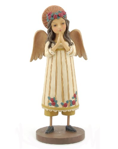Blossom Bucket Praying Angel Doll with Halo