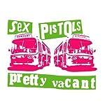Rock Style Tシャツ SEX PISTOLSの仕掛け人マルコム・マクラーレン氏がヴィヴィアン・ウエストウッドと共に仕掛けたパンクムーブメントを象徴するかのようなデザインのUネックTシャツ Pretty Vacant (S, MELANGEBACK)