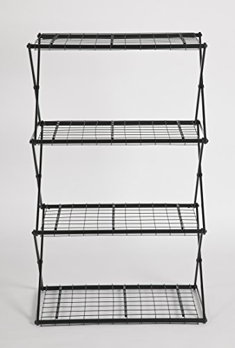 Black Flower House Exy EXY40B 4-Tier Shelving System