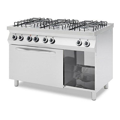 Cuisinire-6-feux-gaz-sur-four-lectrique-SR1276DF-SARO