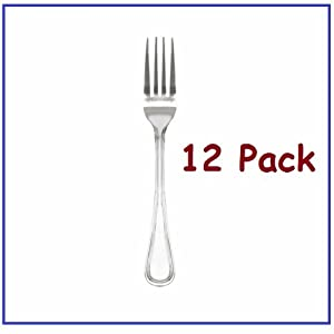 1 Dozen Dinner Forks Legend Flatware with Bright Finish! Heavy Weight Flatware *Great... by Chefs Pal