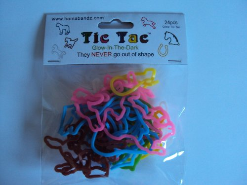 Bama Bands - Horses - Tic Tac - 24 Bands Per Pack, Tie Dye Colors (Compare to Silly Bandz, Zany Bands, Goofy Bands, Disney Bands, Buddy Bands and Stretchy Shapes) !