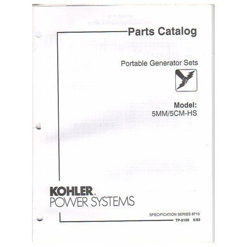 Original 1993 Kohler Power Parts Catalog Portable Generator Sets Models: 5Mm / 5Cm-Hs No. Tp-5126