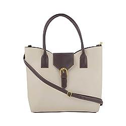 Jewlot Off white PU Women's Handbags 1093