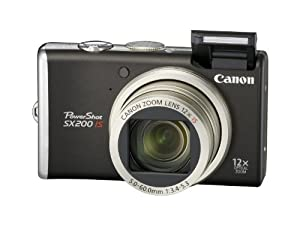 Canon PowerShot SX200 IS Digitalkamera (12 Megapixel, 12-fach opt. Zoom, 7,6 cm (3 Zoll) Display) black
