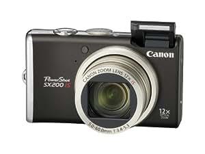 Canon PowerShot SX200 IS Digitalkamera (12 Megapixel, 12-fach opt. Zoom, 7,6 cm (3 Zoll) Display) black